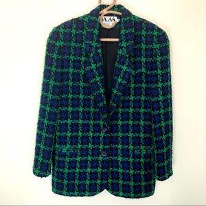 80s Vintage houndstooth blazer